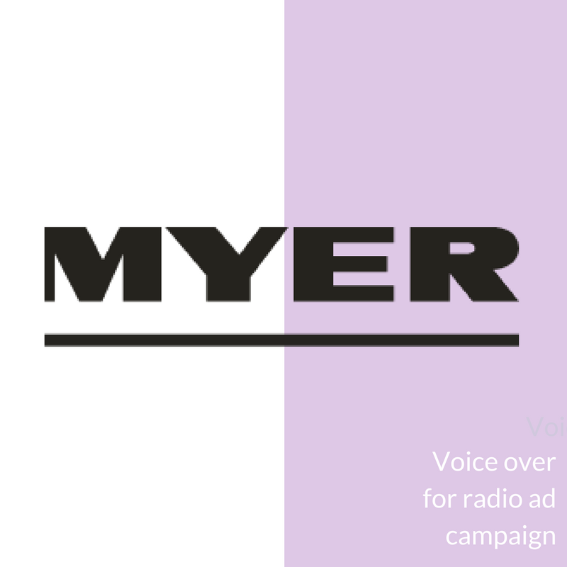 Voice over for radio
